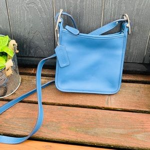 Vintage Little Blue leather purse